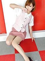 Ichika Nishimura Asian has sexy legs in short skirt and heels