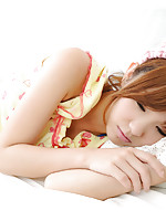 Ichika Nishimura Asian is the cuttest doll in yellow pyjamas