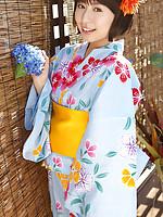 Rio Matsushita Asian shows sexy legs under geisha dress outdoor